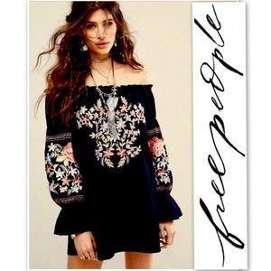 Free People Fleur Du Jour Embroidered Dress S